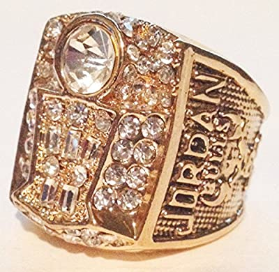 Chicago Bulls 1998 Championship Ring Replica - Michael Jordan - Chicago Bulls Memorabilia Michael Jordan's Last Championship Mens Size 11 Great Gift - Shipped from USA