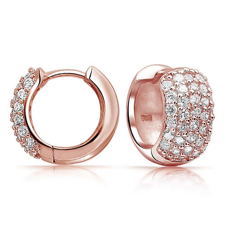 Rose Earrings Amazon Earrings Rose Gold Plated