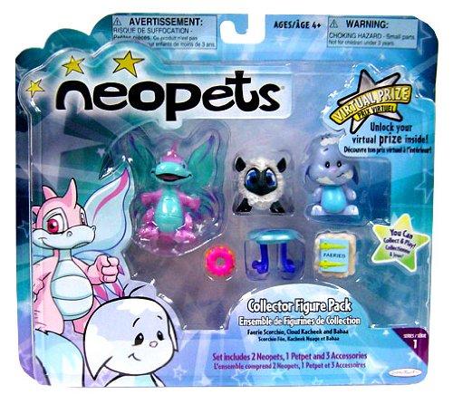 Buy Low Price Jakks Pacific Neopets 2 Inch Vinyl Mini Figure 3-Pack (Scorchio, Kacheek and Babaa) (B001BO55MC)
