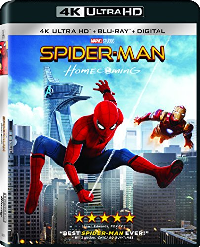 4K Blu-ray : Spider-Man: Homecoming (With Blu-Ray, 4K Mastering, Ultraviolet Digital Copy, Widescreen, Dubbed)