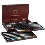 Caran D'ache Museum Aquarelle Watercolor Pencils - 72 Colors in a Wood Box (3510.476)