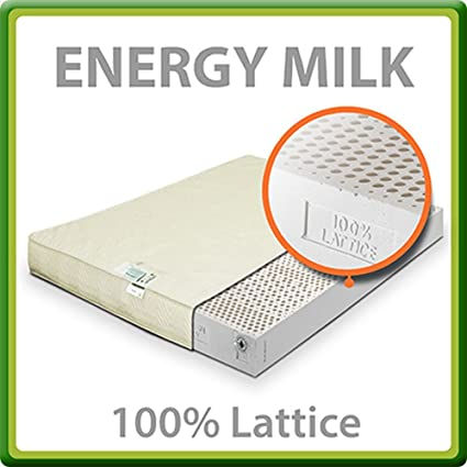 Energy Milk Materasso 100% Lattice Matrimoniale Francese 140x200 cm