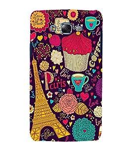 printtech Paris Tower Love Heart Memes Back Case Cover for Samsung Galaxy E5 / Samsung Galaxy E5 E500F