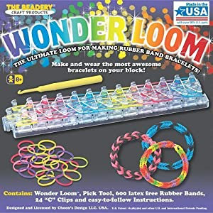 Wonder Loom Rubber Band Bracelet Kit with FREE Rubber Band Loom Pattern Book