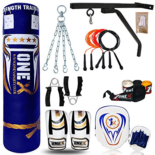 onex-new-13pcs-5ft-heavy-filled-boxing-training-punching-bag-gloves-bracket-chain-mma-pads