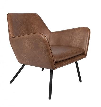 Retro Sessel BON Kunstleder Vintage Braun