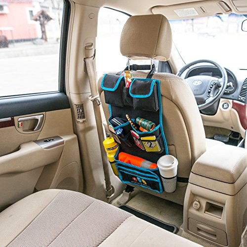 backseat car organizer by hello little monsters kids toy car storage travel accessories for. Black Bedroom Furniture Sets. Home Design Ideas