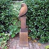 Garden Sculptures modernes-Aigle sur socle-Statue rouille