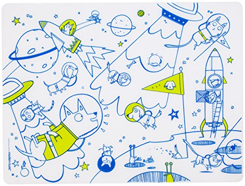 modern-twist Kids Mark-Mat Silicone Coloring Placemat without Markers, Space Animals (Space Placemat compare prices)