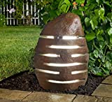 "Stone Age Creations LA-TW-22 Granite 22"" Twilight Boulder Lantern Natural Stone"