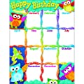 Trend Enterprises Happy Birthday (Owl-Stars!) Learning Chart (T-38452)