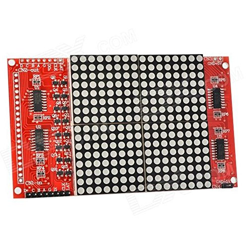 Next 16 X 16 Led Dot-Matrix W/ Dupont Cables / Pin Headers For Arduino - Red Ard0705