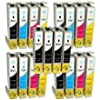 Compatible Epson Stylus SX445W Ink Cartridges 8X Black 4X Cyan 4X Magenta 4X Yellow (20-Pack)