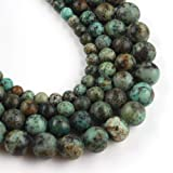 Yochus 6mm Africa Turquoises Round Stone Beads Natural Stone Beads for Jewelry Making (Color: Africa Turquoises, Tamaño: 6mm)