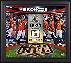 "Denver Broncos 2015 AFC Conference Champions Framed 15"" x 17"" Collage with a Piece of Game-Used Football - Limited Edition of 250 - Fanatics Authentic Certified"