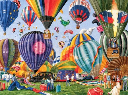 Serendipity Puzzle Company Full of Hot Air 1000 Piece Jigsaw Puzzle - 1