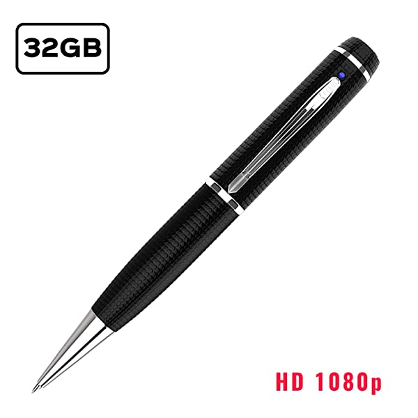 iSmartPen Pro 32GB Silver Camera Pen   New & Improved 2019 Design   1920p x 1080p   Professional Recording Device with Rechargeable Battery   Education, Business, and More (Color: silver)