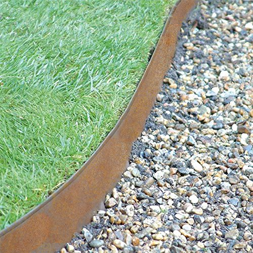 coyote landscape products 5 piece steel home kit raw steel edging with