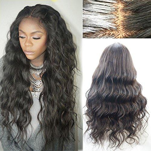 Helene-cheveux-2016-New-Fashion-Wave-naturel-sans-partie-perruque-chtain-Full-Lace-Perruques-Perruques-Lace-Front-pour-femme-Noir-avec-cheveux-de-bb-Densit-130-180-203-cm-26-cm