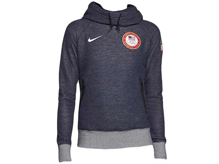 Women's Nike Wool Funnel Hoody USA Olympics Blue Jeans 582877-468 Size XS一站式海淘,海淘花专业海外代购网站--进口 海淘 正品 转运 价格