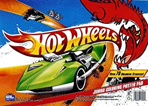 Hot Wheels Jumbo Coloring Poster Pad (12 Pieces) [Kitchen]