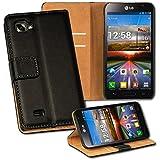 OneFlow PREMIUM - Book-Style Case im Portemonnaie Design mit Stand-Funktion - für LG Optimus 4X HD - SCHWARZ