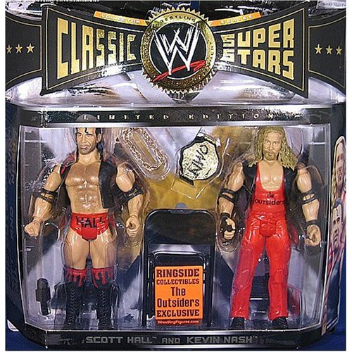 Buy Low Price WRESTLING OUTSIDERS (HALL & NASH) RINGSIDE EXCLUSIVE CLASSIC 2-PACK WWE Wrestling Action Figures (B000WE4ZJQ)