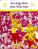1972 11/4 San Diego State vs West Texas State Football Program bx7173