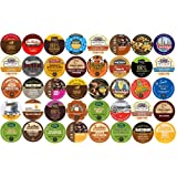 40-count K-cup for Keurig Brewers All Coffee REGULAR & FLAVORED Variety Pack Featuring Tim Horton's, Green Mountain, Coffee People, Emeril's, Newman's Own Organic, Donut House, Caza Trail, Gloria Jean's, Grove Square Cappuccino, Authentic Donut House, Barnie's Coffee Kitchen, Hurricane, Guy Fieri, Brown Gold, Martinson, Marley Coffee, Brooklyn Bean, & Java Factory