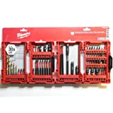 Milwaukee 48-32-4017 56-Piece Shockwave Impact Duty Drill and Drive Set (Color: Red Case)