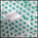 Mini Ziplock Baggies Apple Brand High End Quality 1515 Green Leaf Design Print