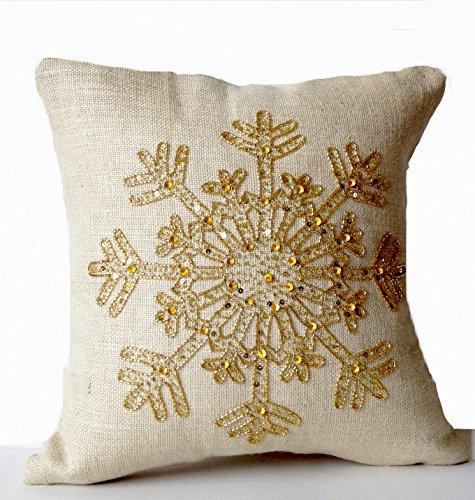 amore-sonp-handgefertigt-elfenbeinfarben-jute-gold-snow-flake-kissenbezug-dekorative-gold-pailletten