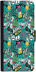 Snoogg We Love Comics Graphic Snap On Hard Back Leather + Pc Flip Cover Sony ...