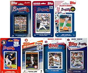 MLB Atlanta Braves 7-Different Licensed Trading Card Team Set by C&I Collectables