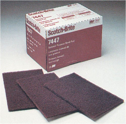 6-by-9-Inch general purpose hand pad ideal for hand finishing and cleaning of woods, metals and composites - 3M Scotch-Brite General Purpose Hand Pad, 6-Inch by 9-Inch, 20-Pad