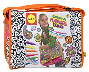 ALEX® Toys - Color a Bag!  & Accessories Color A Flower Bag 509F