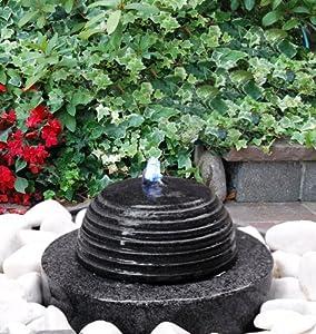 Brunnen m hlstein mit kugel erdeinbaubrunnen naturstein gartenbrunnen dekoration for Gartenbrunnen kugel