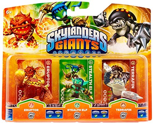 Skylanders: Giants - Triple PacK F: Eruptor + Stealth Elf + Terrafin