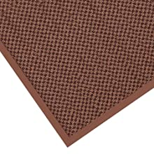 "Notrax 145 Preference Entrance Mat, for Inside Foyer Area and Main Entranceways, 3' Width x 4' Length x 5/16"" Thickness, Brown"