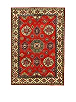 L'EDEN DEL TAPPETO Alfombra Uzebekistan Super Rojo/Beige 200 x 296 cm