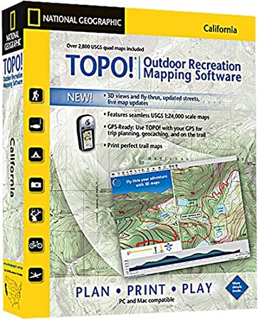TOPO! National Geographic USGS Topographic Maps (California)
