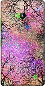 DailyObjects Vintage Stars Pink Case For Nokia Lumia 730