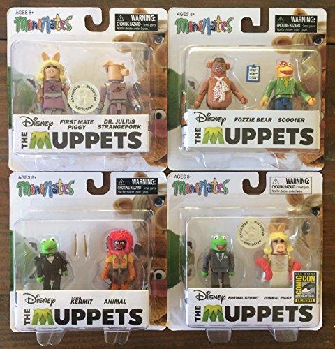 The Muppets: Set of 8 Minimates Figures Custom Bundle (Fozzie Bear Adult Costume)