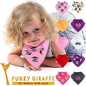 Rebelde en Rosa - Juego de 10 bandanas baberos por Funky Giraffe de Maia's Company Ltd en BebeHogar.com