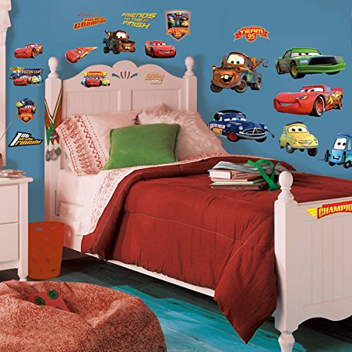 Roommates Rmk1520Scs Disney Pixar Cars Piston Cup Champs Peel & Stick Wall Decal - 1