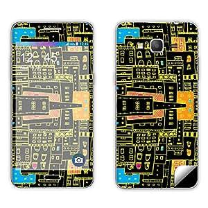 Skintice Designer Mobile Skin Sticker for Samsung Galaxy Grand Prime, Design - Neon City