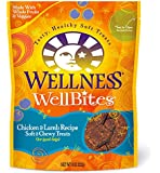 Wellness WellBites Soft Natural Dog Treats Made in USA Only, Chicken & Lamb Biscuits, 8-Ounce Bag