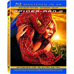 Spider-Man 2 (Mastered in 4K) (Single-Disc Blu-ray + UltraViolet Digital Copy)