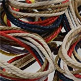 Jewellery of Lords Natural Hemp Rope Cord Rainbow Surfer Bracelet Wrap Wristband Surf Urban