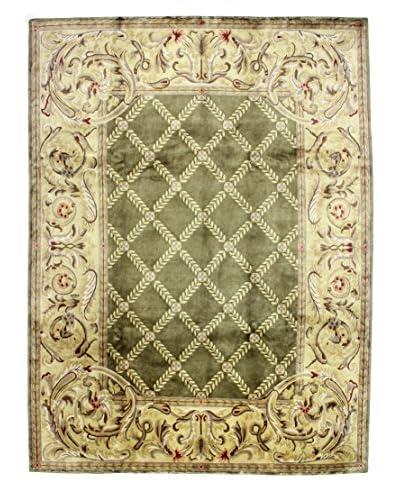 Bashian Hand Knotted Kumari Rug, Moss, 9' 2 x 12' 1